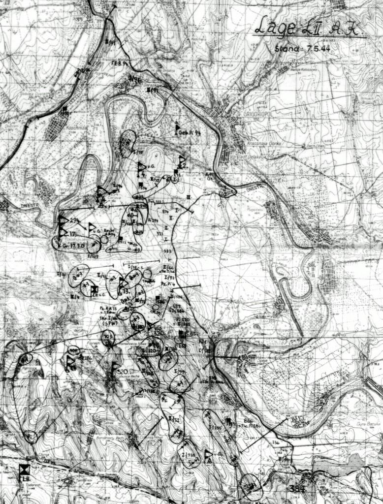 Положение на 7.05.1944