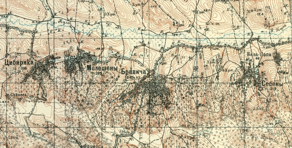 Карта 5. Район боев западнее Орхей по реке Кула